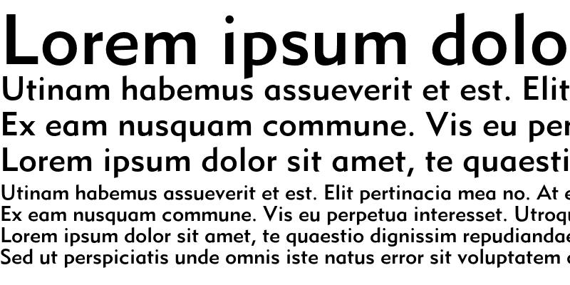 Sample of MetroMedium LT Two Regular