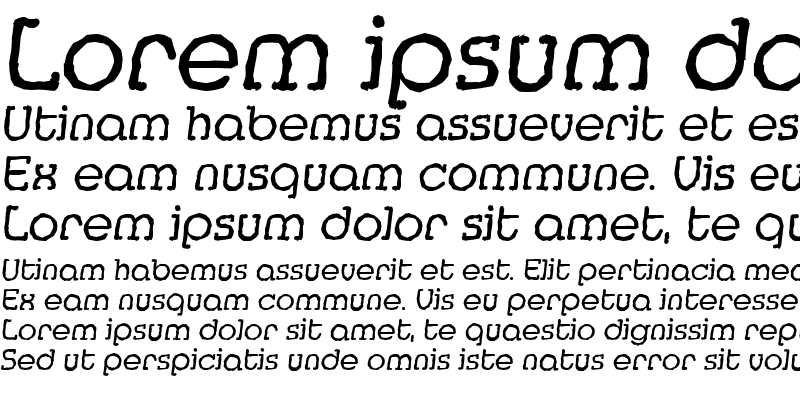 Sample of MexicoAntique Italic