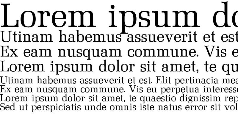 Sample of Mezzo Font