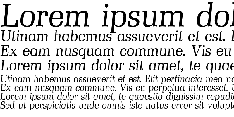 Sample of Mezzo Italic