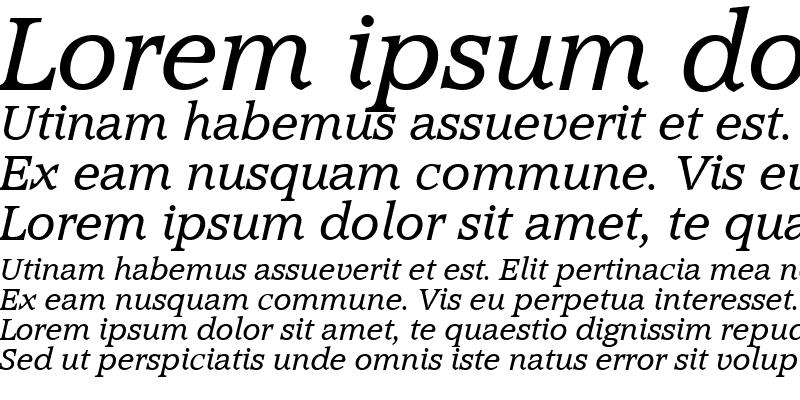 Sample of MichaelBecker Italic