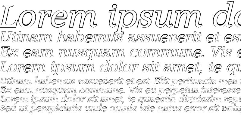 Sample of MichaelBeckerOutline Italic