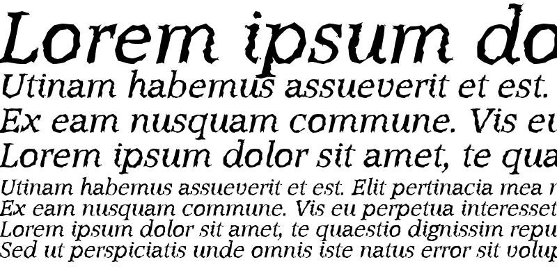 Sample of MichaelBeckerRandom Italic
