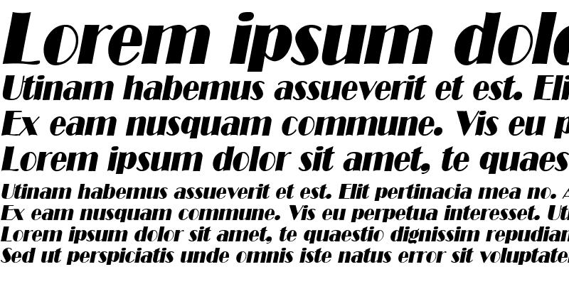 Sample of MichelleBecker Italic