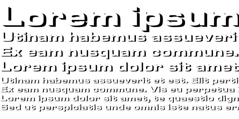 Sample of Microgramma Becker Only Shadow Regular