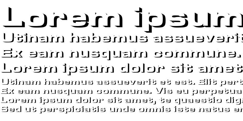 Sample of MicrogrammaOnlShaDBolExt Regular