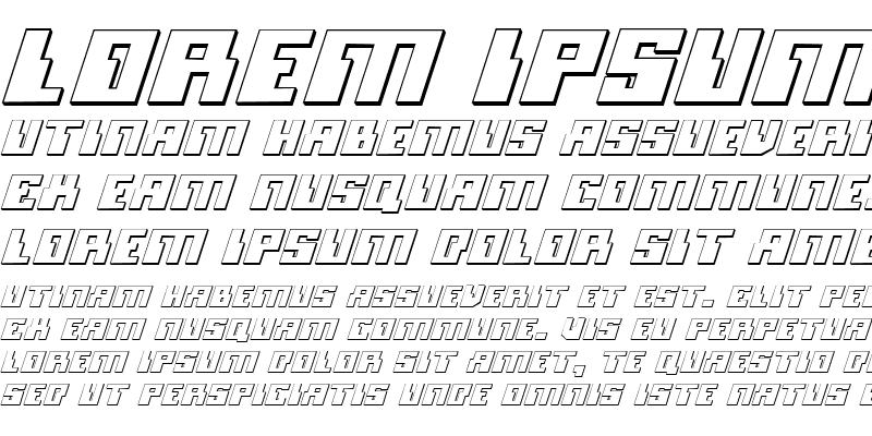 Sample of Micronian 3D Italic Italic
