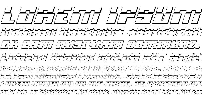 Sample of Micronian Laser 3D Italic