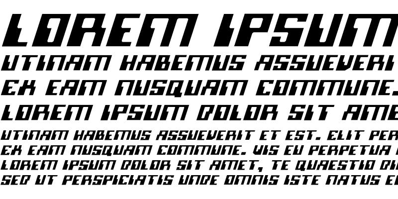 Sample of Micronian Light Italic