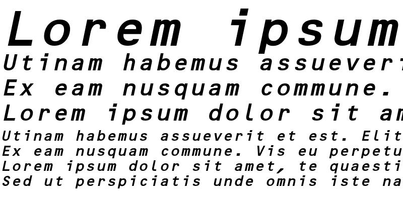 Sample of MicroscanB BoldOblique