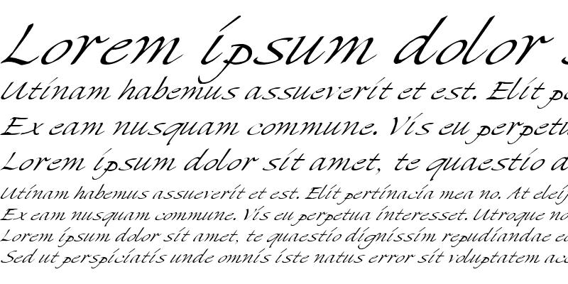 Sample of MikadoItalic