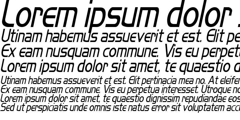 Sample of MikityCondensed Italic