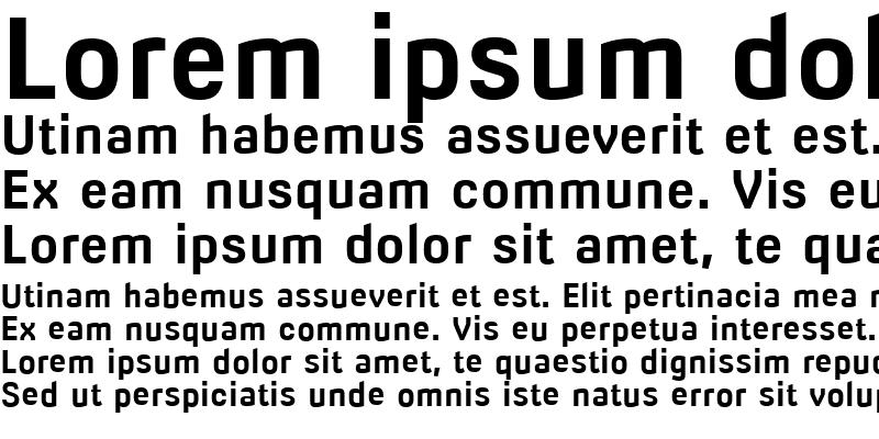 Sample of Milibus Bold