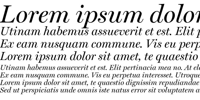 Sample of Miller Display Italic