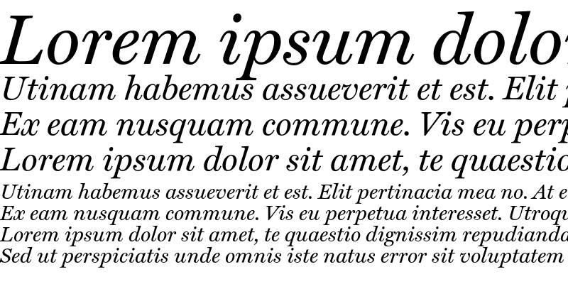 Sample of Miller Text Italic