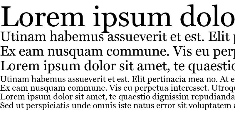 Sample of Miller Text Regular