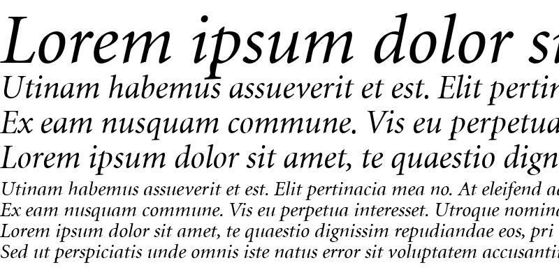 Sample of Minion Cyrillic Italic