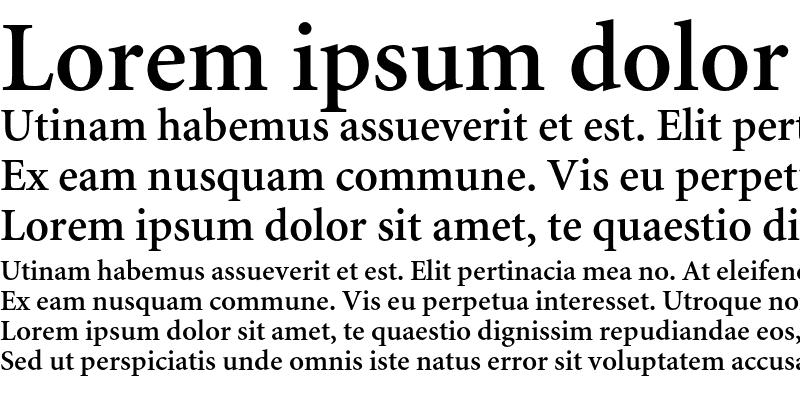 Sample of Minion Cyrillic Semibold