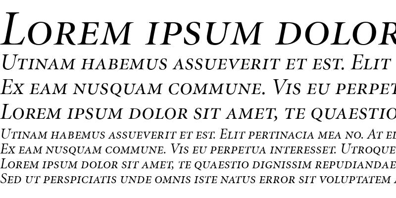 Sample of Minion DisplaySC Italic