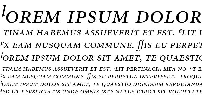 Sample of Minion Expert Italic