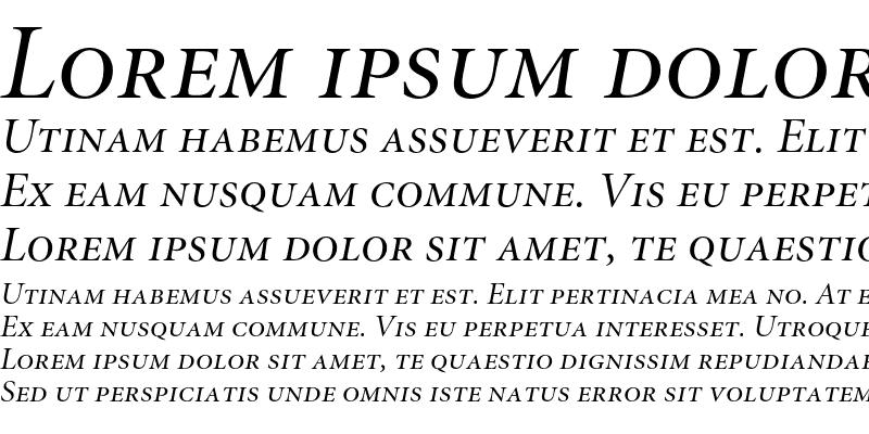 Sample of Minion Italic Display SC
