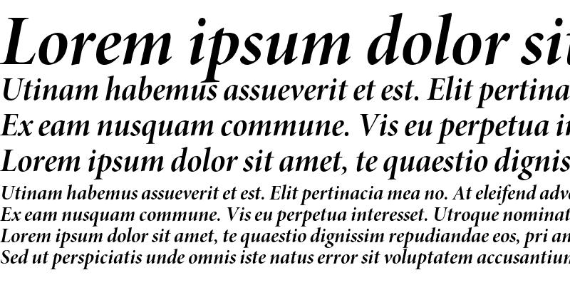 Sample of Minion Pro Bold Italic Display