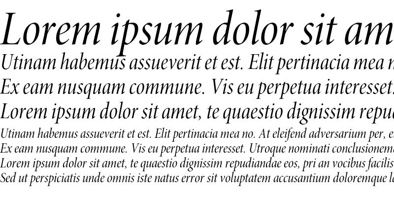 Sample of Minion Pro Cond Italic Display