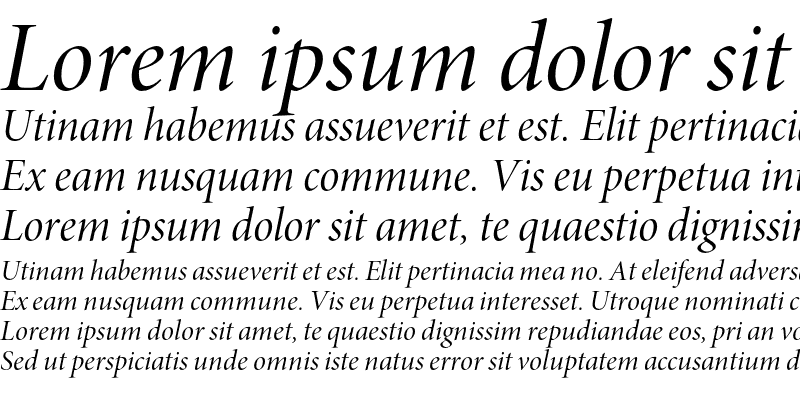Sample of Minion Pro Italic Display