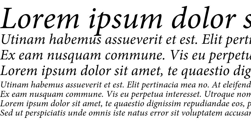 Sample of Minion Pro Italic