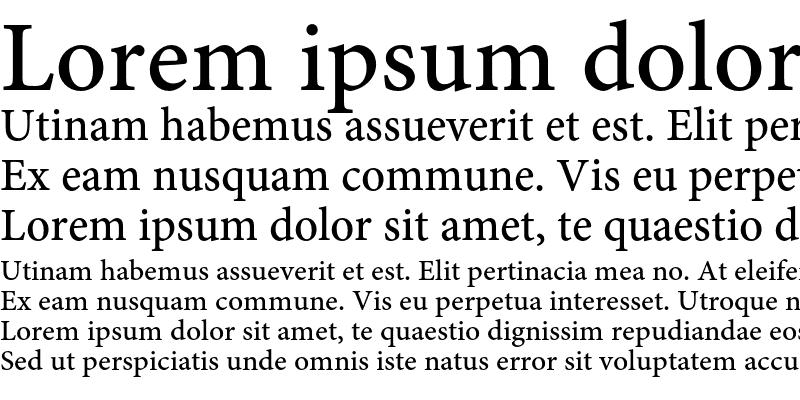 Sample of Minion Pro Medium Caption