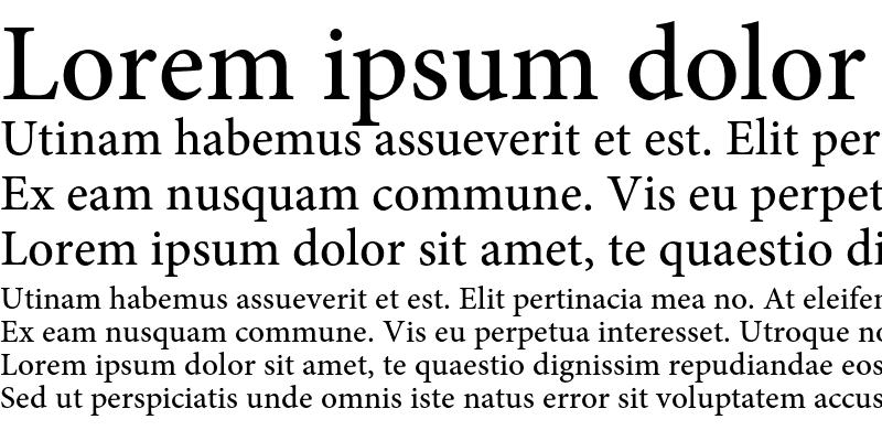 Sample of Minion Pro Medium