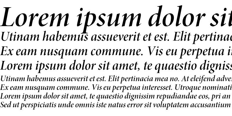 Sample of Minion Pro Semibold Italic Display