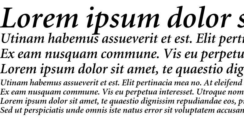 Sample of Minion Semibold Italic