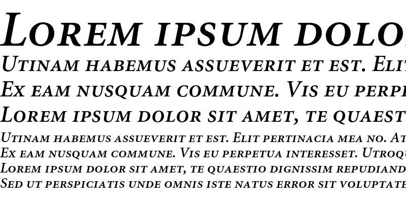 Sample of Minion Semibold Small Caps & Ol Italic