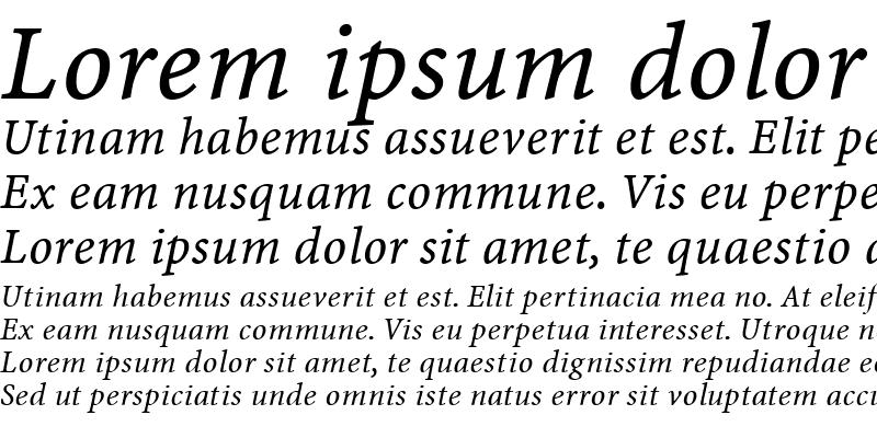 Sample of Minion Web Italic