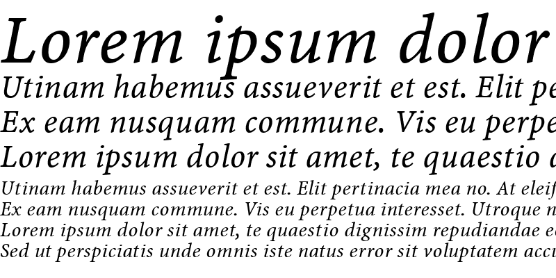 Sample of Minion Web Pro Italic