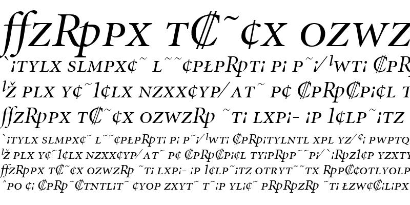 Sample of MinionExp-DisplayItalic