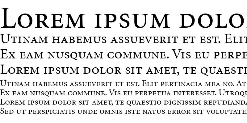Sample of MinionSmallCaps&OldstyleFigures Roman