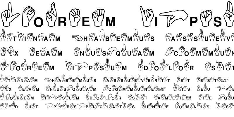 Sample of MiniPics ASL Regular