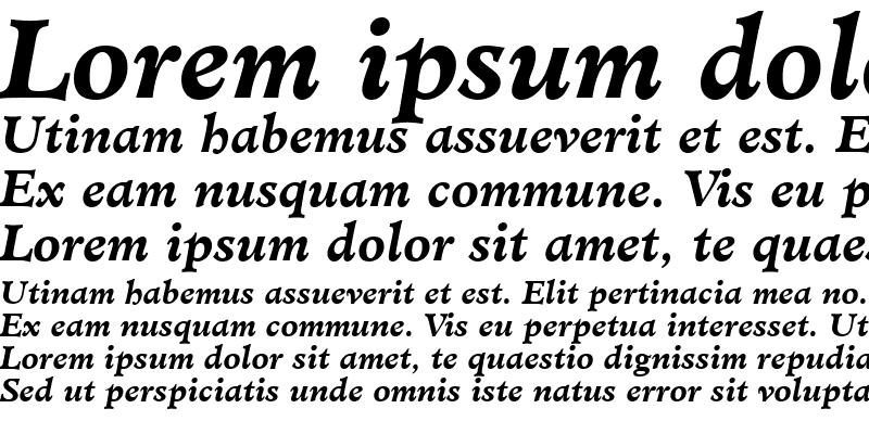 Sample of Minister BoldItalic