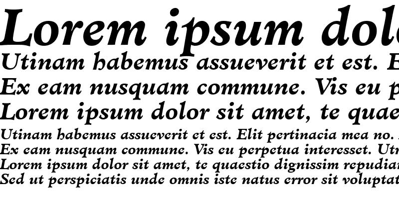 Sample of Minister LT Book Bold Italic