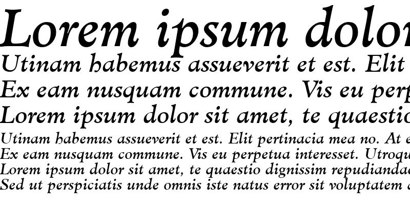 Sample of Minister LT Book Italic
