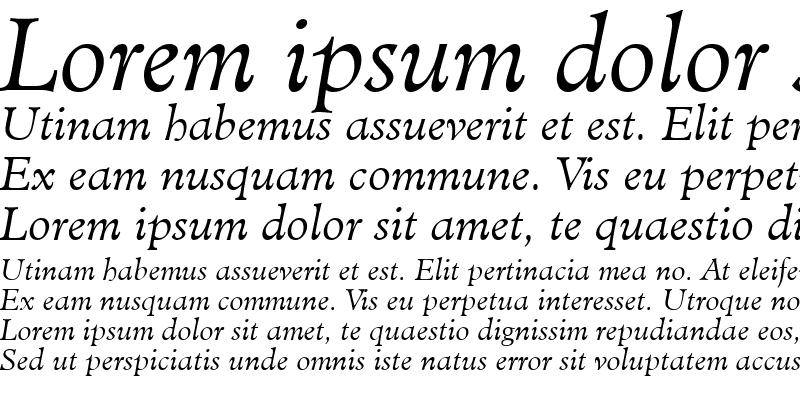 Sample of Minister LT Light Italic