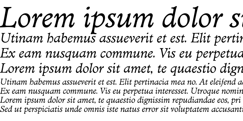 Sample of MinisterEF Book Italic