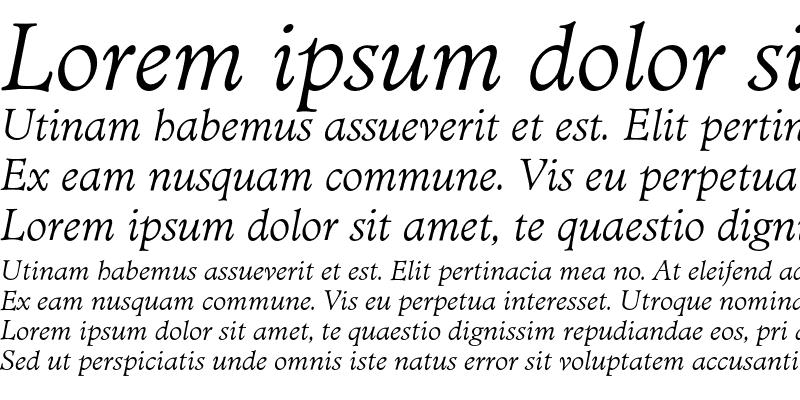 Sample of MinisterEF Light Italic