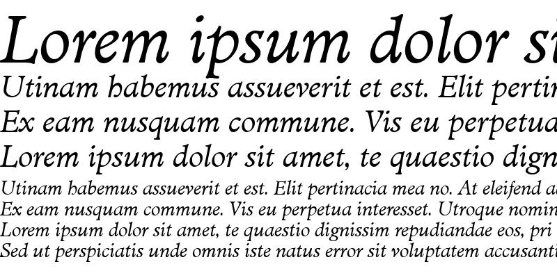 Sample of MinisterT Italic