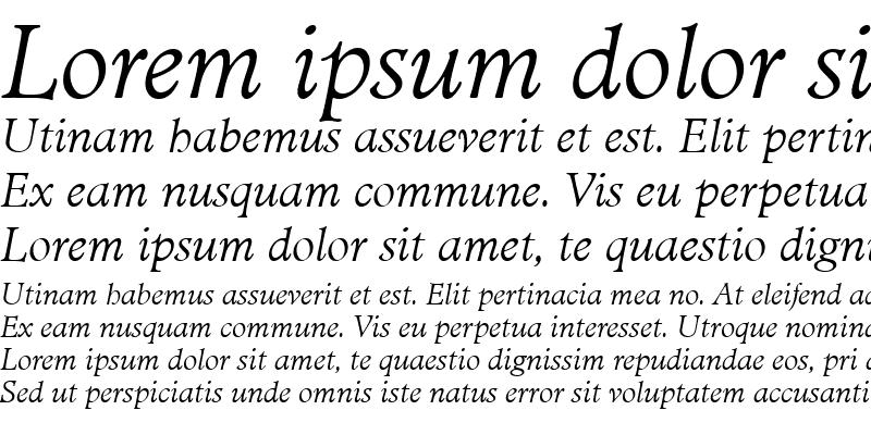 Sample of MinisterTLig Italic