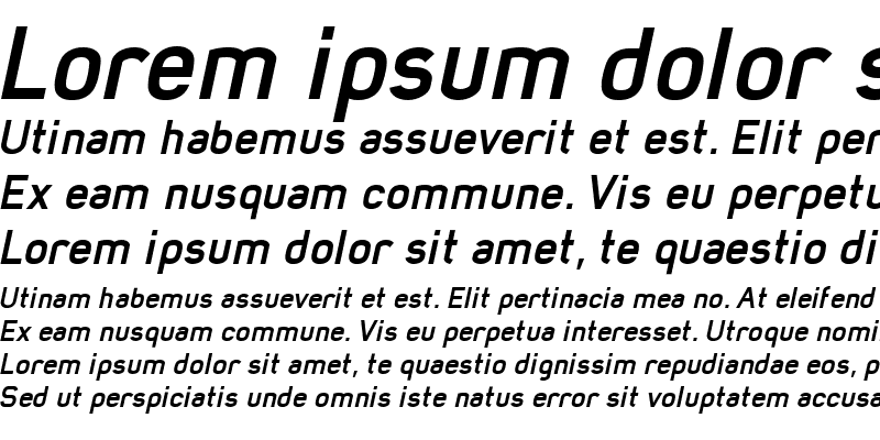 Sample of Mister Giacco Bold Italic