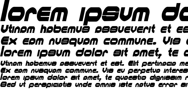 Sample of MKUltraCondensed Italic