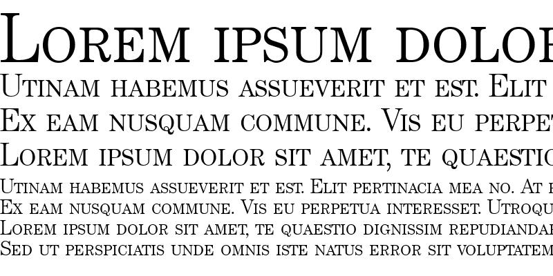 Sample of ModernCenturySmc Regular